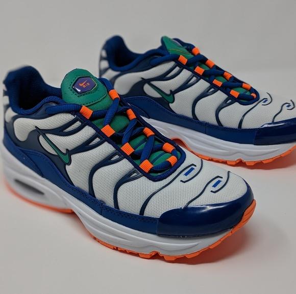 air max plus blue orange and white